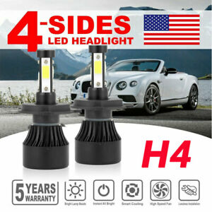 4 Sides H4 9003 Led Headlight Kit 1800w 270000lm Hi Lo Beam Bulbs 6000k White