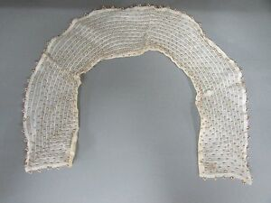 Antique Victorian Hand Stitched Embroidered Beaded Collar