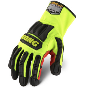 Ironclad Kong Ultimate Rigger Oil Gas Impact Work Gloves Red Yellow Krig