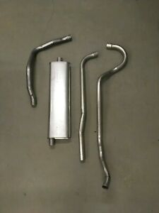 1955 1956 1957 Chevy 6 Cylinder Hardtop Factory Correct Single Exhaust System