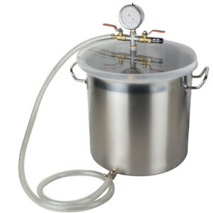 5 Gallon Stainless Steel Vacuum Chamber Degassing Non stick Silicone Pad usa