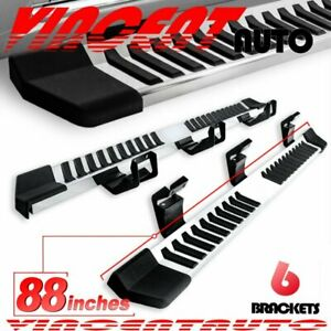 Fit 09 14 Ford F150 Super Crew Cab Side Step Running Board Nerf Bar 6 Ss Pickup