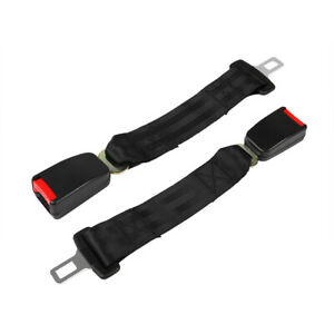 1 Pair 14 36cm Car Seat Seatbelt Safety Extender Belt Extension 7 8 Buckle