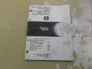 John Deere 540g ii 548g ii 640g ii Skidder Engine Service Repair Manual Tm1694