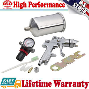 2 5mm Hvlp Gravity Feed Spray Gun Kit Automotive Paint Primer Sprayer Gauge Tool