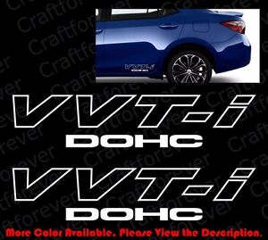 2 Pieces X Toyota Vvti Dohc Jdm Trd Vinyl Graphic Car Window Decal Sticker Ty004