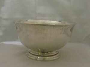 American Sterling Silver Exemplar Paul Revere 1768 Style Bowl