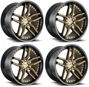 4 New 19 Niche Methos M195 Wheels 19x8 5 5x112 42 Bronze Black Rims