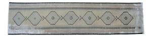 Muted Color Vintage Handknotted Contemporary Runner Rug Distressed Rug 30 X 126