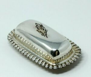 Elegant Vintage Silver Plated Butter Dish With Glass Insert And Cover