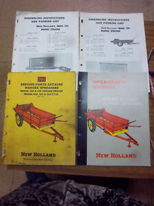 New Holland 200 220 Manure Spreader Service Parts Catalog operator Manual lot
