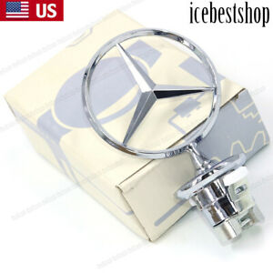 For Mercedes Benz Standing Star Hood Mount Emblem Ornament Badge W210 W220 W221