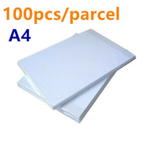 100pcs parcel A4 Dark White Color T shirt Heat Transfer Paper Free Shipping
