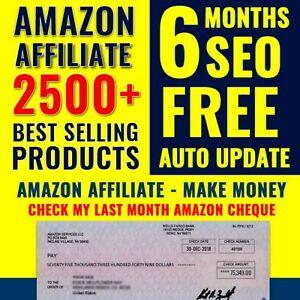 Amazon Affiliate Website To Make Money Online With An Affiliate marketing 2500