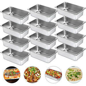 12 Pack Full Size 6 Deep Stainless Steel Steam Prep Table Buffet Food Pan