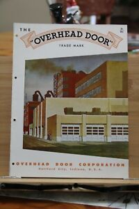 Brochure Overhead Door Corporation Hartford City Indiana In Vintage 1951 Vintage