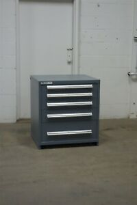 Used Stanley Vidmar 5 Drawer Cabinet 33 High Industrial Storage 1653