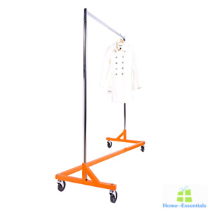 Commercial Garment Rack Collapsible Heavy Duty Rolling Clothing Rod Portable