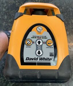 David White 3110 gr Self leveling Rotary Grade Laser Level usa Made See Pics