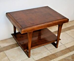 Vintage Mid Century Modern Two Tier Lane Furniture Accent End Table