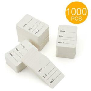 Price Tags Perforated Merchandise Marking Tags Pack Of 1000 white