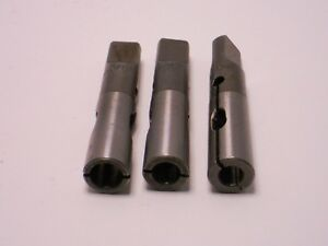 Cleveland 3 8 7 16 1 2 To Mt 2 Split Sleeve Drill Reamer Drivers 3 Pcs