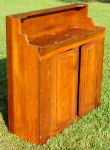 Primitive Rustic Old Wooden Dry Sink Cabinet Shipping Is Not Available