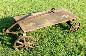 Vintage Or Antique Wooden Child S Toy Pull Wagon Nice Local Pickup Only