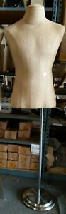 Used Mn sr 1 Pc Male Burlap Fabric Dress Form With Base Local Pickup Los Angeles