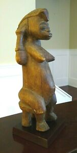 Antique African Senufo Female Figure West Africa Early To Mid 20th Century