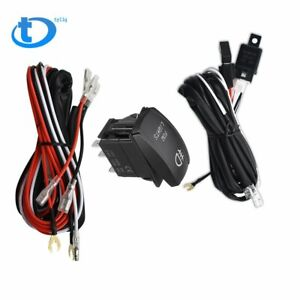 Universal Red Led Fog Light Wiring Harness Fuse Laser Rocker Switch Relay 12v