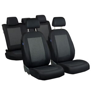 Car Seat Covers For Toyota Yaris Full Set Black Grey Triangles