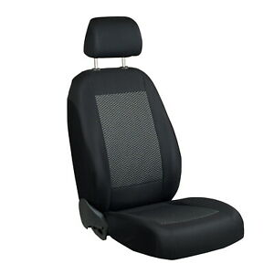 Car Seat Cover For Toyota Yaris Driver Seat Black Grey Triangles