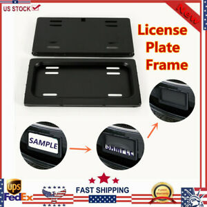 Hide Device Stealth License Plate Roller Shutter Protect Cover For Any Us Cars