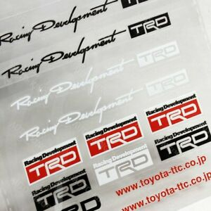14pc Reflective Decal Sticker Set Window Vinyl Fit Auto For Toyota Jdm Trd Sport