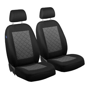 Car Seat Covers For Volkswagen Fox Front Seats Black Grey