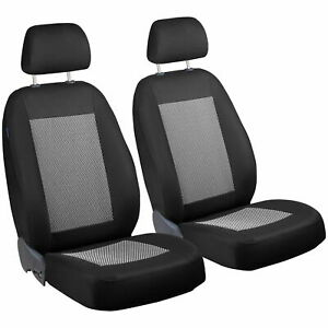Car Seat Covers For Volkswagen Fox Front Seats Black White Stripes