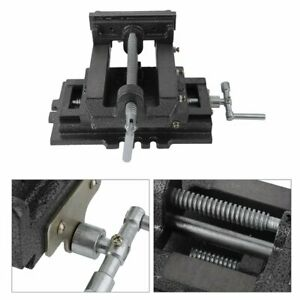 6inch Cross Slide Drill Press Vise Metal Milling Vises Holder Clamping Bench Ma