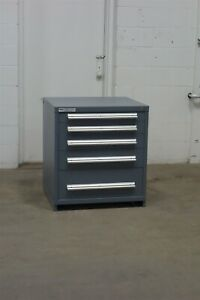 Used Vidmar 5 Drawer Cabinet 33 High Industrial Storage 1660