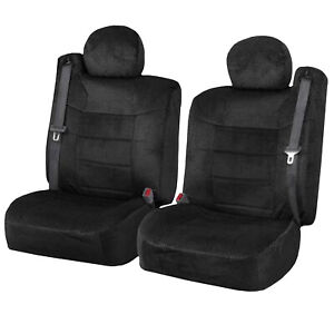 Chevy Silverado Black Custom Scottsdale Seat Covers W Built In Seat Belt 6pc