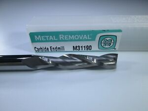 Metal Removal Carbide End Mill 5 16 X 1 1 2 X 6 Extra Long Reach Milling Tool