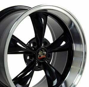17 Rim Fits Ford Mustang Bullitt Fp01 Black Mach D 17x10 5 Wheel Rear Only