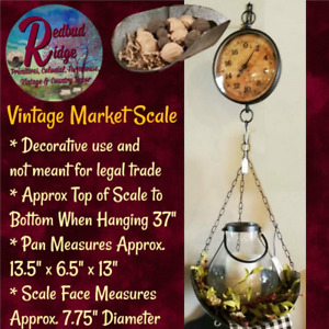 Country Primitive Vintage Market Scales With Scoop Tray