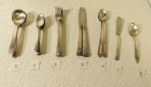 Vintage Rogers Bros Oneida And Wallingford Silverware 24 Piece Mixed Lot