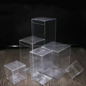 20x Clear Pvc Boxes With Protective Film Gift Biscuit Candy Cake Package Box Kit