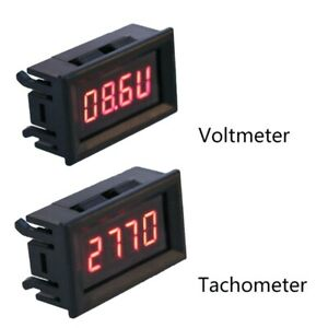 2 In 1 Digital Tachometer Gauge Led Rpm Voltmeter For Auto Motor Rotating Speed