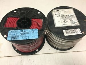 Red White Stranded Copper Wire Thhn 12 Awg