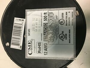 Gray White Stranded Copper Wire Thhn 12 Awg