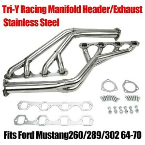 Fit Ford Mustang260 289 302 64 70 Tri Y Stainless Racing Manifold Header Exhaust