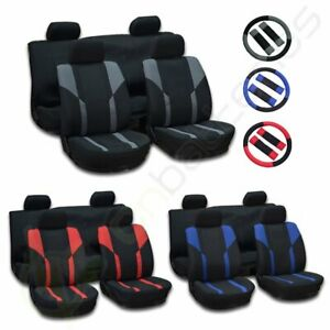 For 2000 2001 2002 2017 Honda Civic Mesh Cloth Car Seat Covers W Headrest Covers